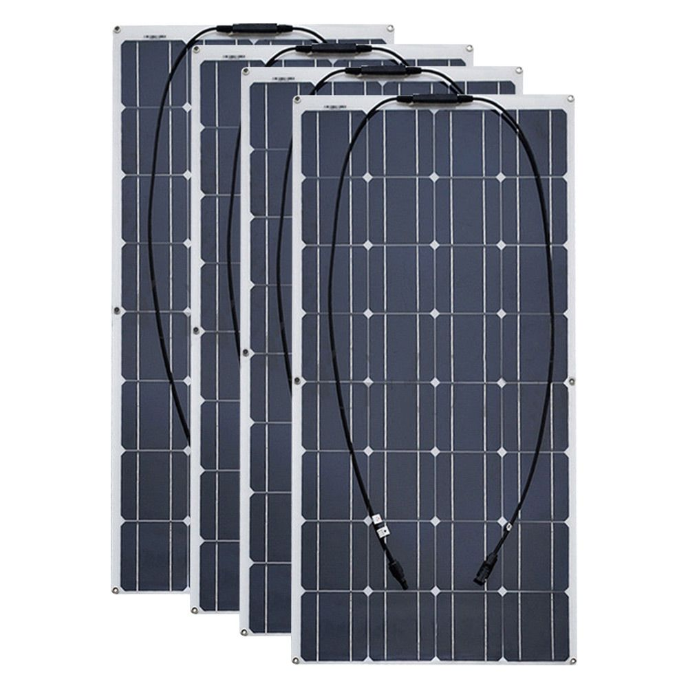 4PCS 6pcs 8pcs 10pcs Flexible solar Panel 100W Monocrystalline Solar Cell 12V 24 Volt 100 Watt placa portatil powerbank solar