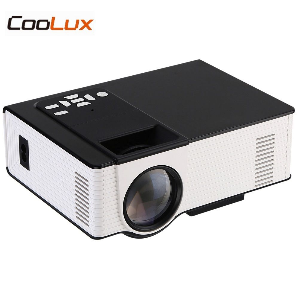 COOLUX VS314 Mini Projector 1500 Lumens 800 x 480 Pixels Media Player Support 1080P AV HDMI VGA 0.9-6m Home Theater Projector