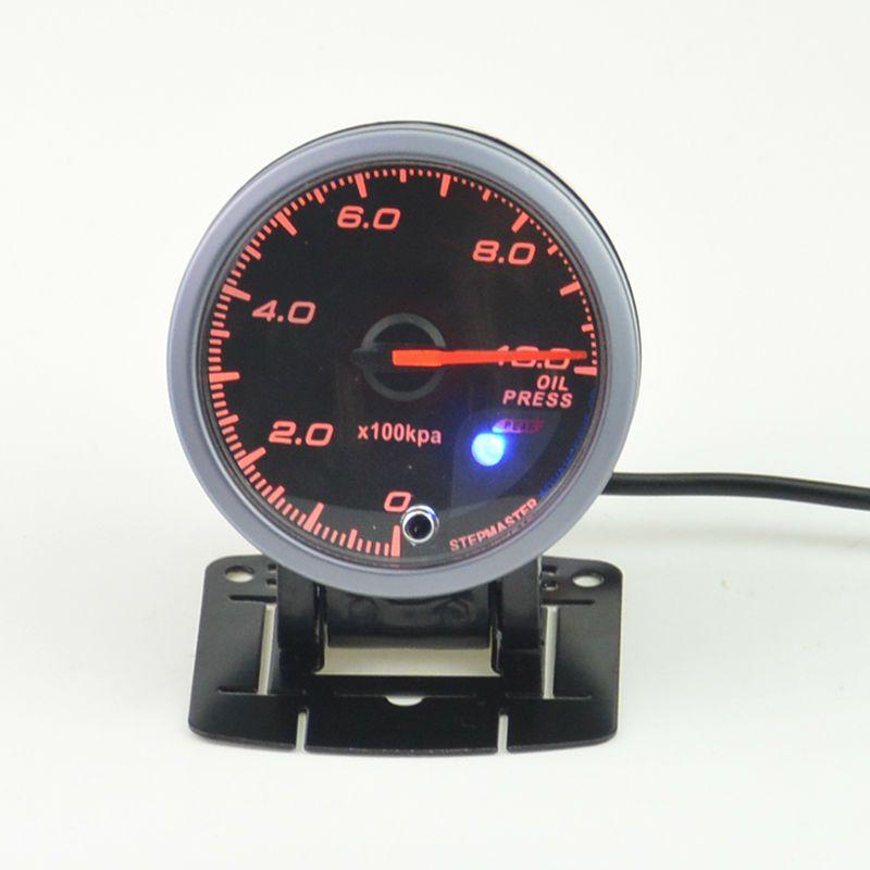 60 mm Car Oil Pressure Gauge  Stepper motor self-test function chnology warning function of 0-10 bar  +pods