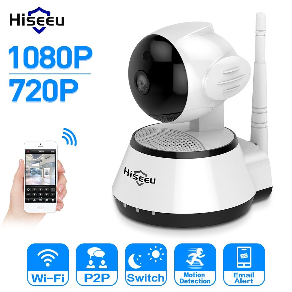 Hiseeu Home Security 720P/1080P IP Camera Wireless WiFi network Camera Surveillance HD 2MP Night Vision CCTV Baby Monitor P2P