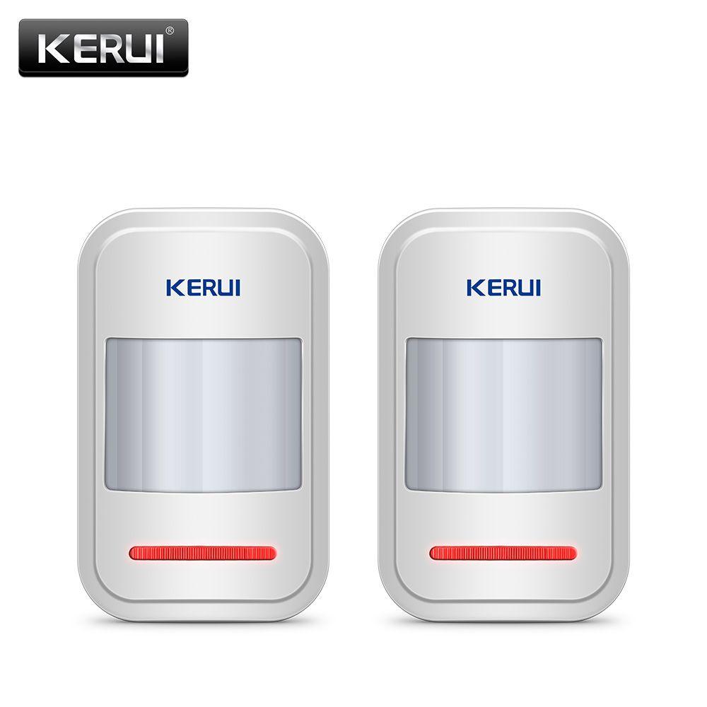 2 pc/4 pc Lot KERUI 433 Mhz sans fil Intelligent PIR détecteur de mouvement pour GSM PSTN système d'alarme domestique sans antenne infrarouge