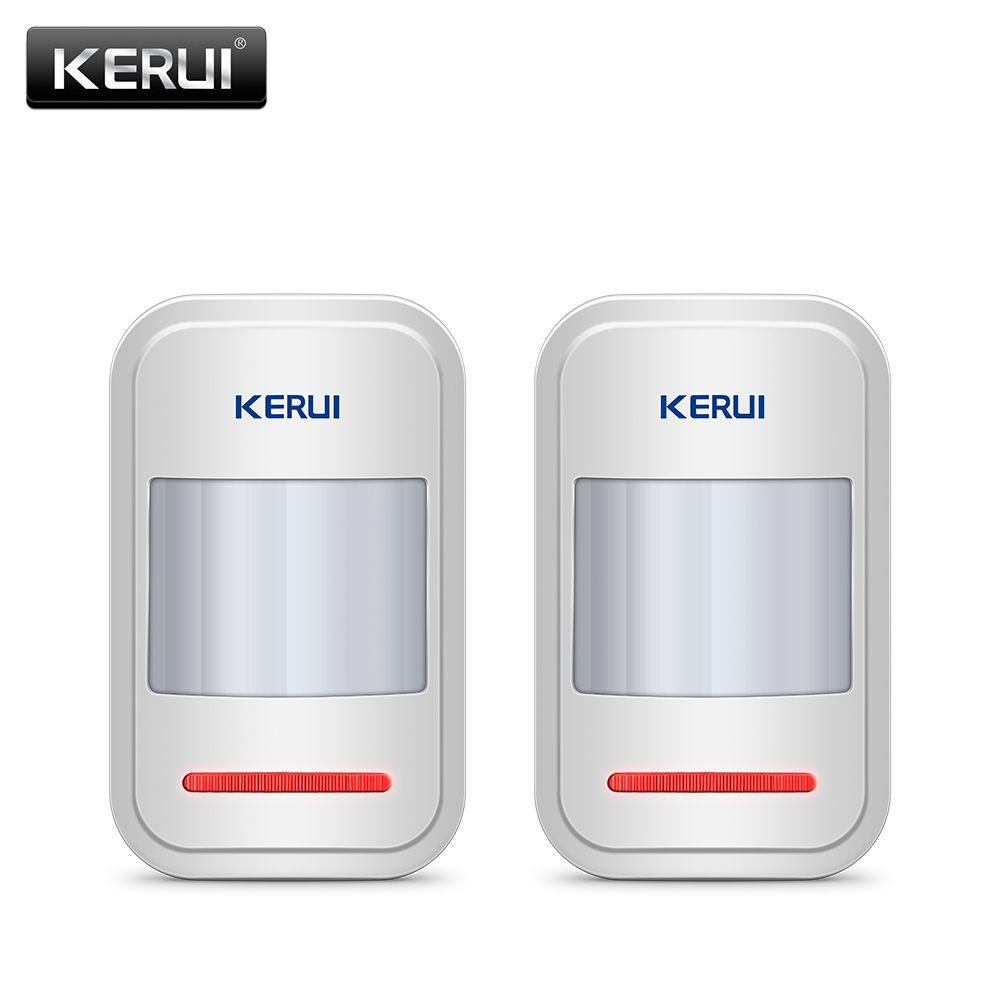 2pc/4pc Lot KERUI <font><b>433Mhz</b></font> Wireless Intelligent PIR Motion Sensor Detector For GSM PSTN Home Alarm System Without Antenna Infrared