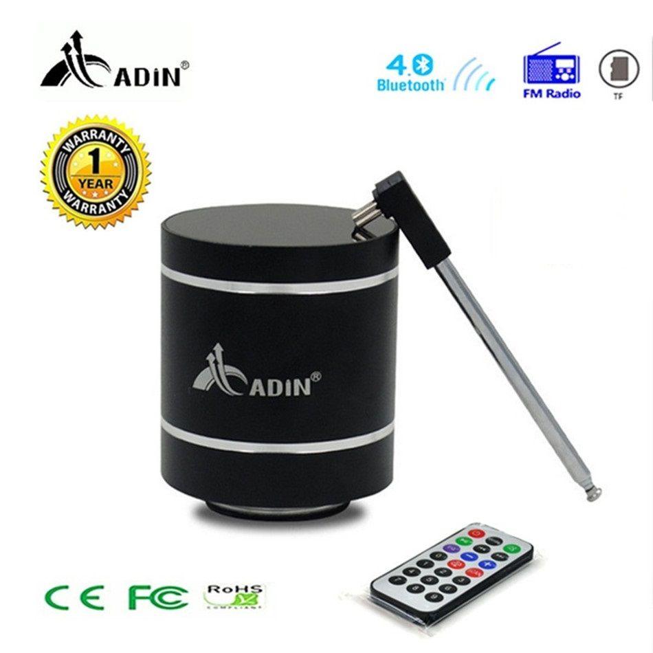 Bluetooth Vibration haut-parleur Adin télécommande Portable FM Radio sans fil haut-parleur 15 w colonne basse ordinateur haut-parleurs pour téléphone