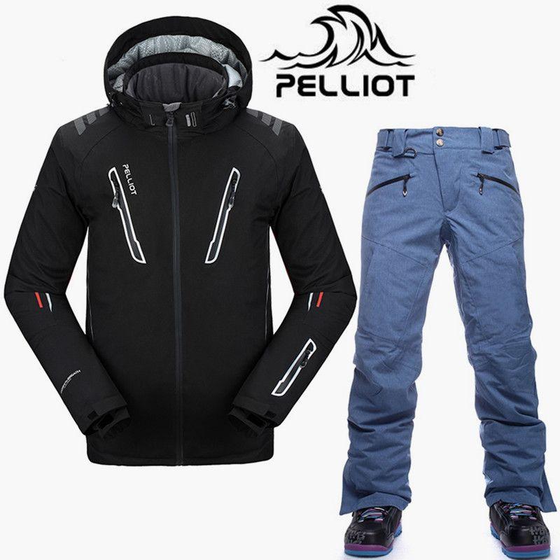 Pelliot Marke SKi Anzug Männer Hohe Qualität Wasserdichte Ski Jacke Snowboard Hosen Super Warm Atmungsaktiv Snowboarden Anzüge Schnee Sets