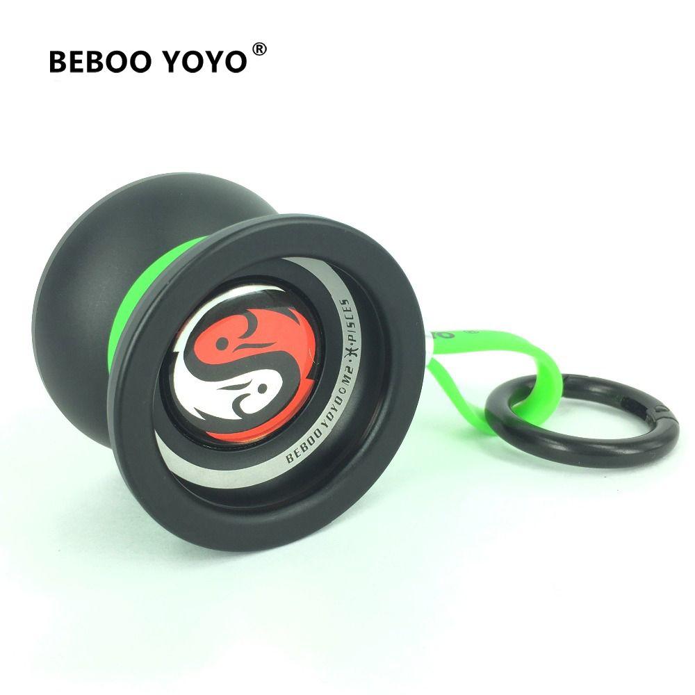 BEBOO YOYO Professional Yoyo Pisce Aluminum Alloy yo yo set Yo-yo + Glove + 3 <font><b>ropes</b></font> + Bag M2 Classic Toys Diabolo Gift Present