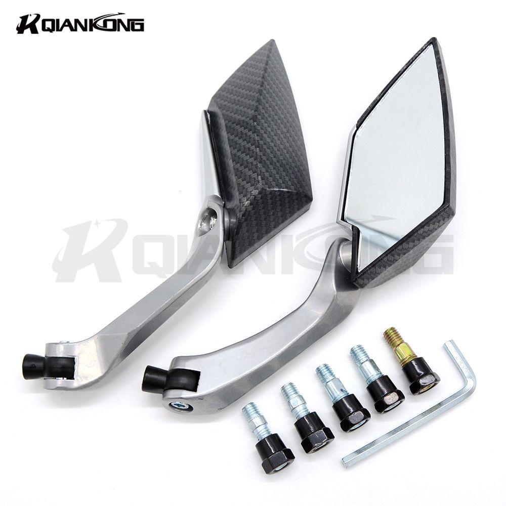 Paired 8 10mm motorcycle motorcross rearview mirror Universal FOR YAMAHA FAZER1000 FZ600 FZ6N FZ1000 FZ1N