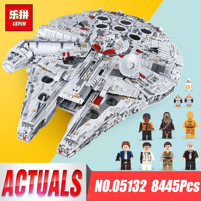 Lepin 05132 Stern Millennium Modell Falcon Ultimative sammler legoings 75192 Wars bausteine ziegel Destroyer Kinder Spielzeug