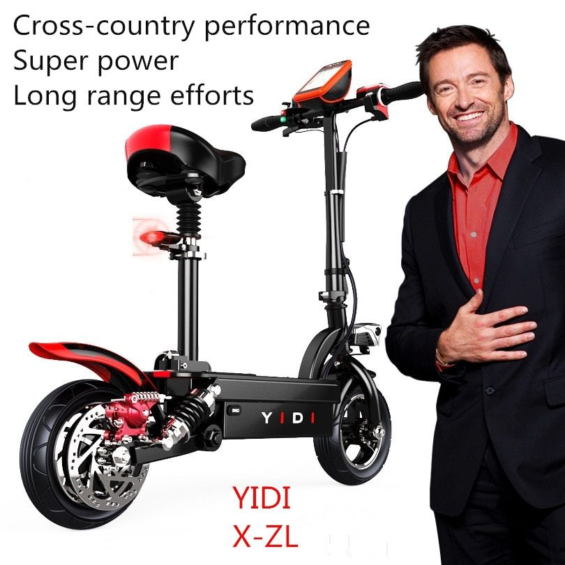 Off-road performance electric scooter city patinete electrico waterproof Solar charge trottinette adulte kick scooter ZL