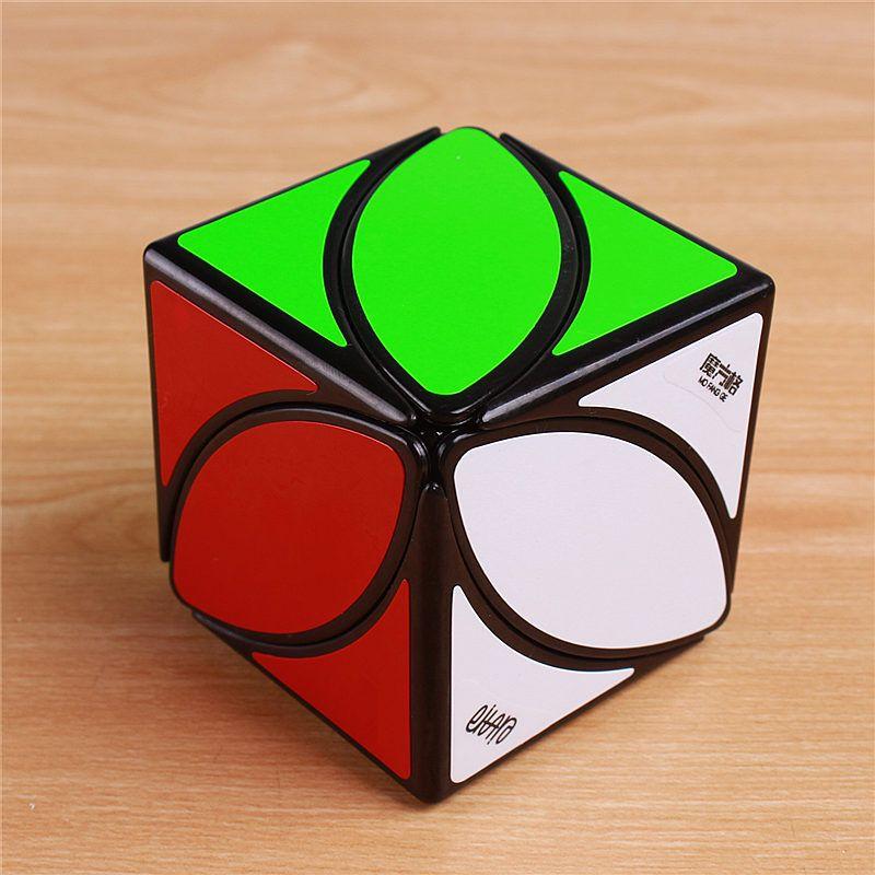 Original QiYi Mofangge lvy feuille ligne Puzzle magique Cube vitesse pvc autocollants les premiers cubes de torsion jouets éducatifs cubo magico