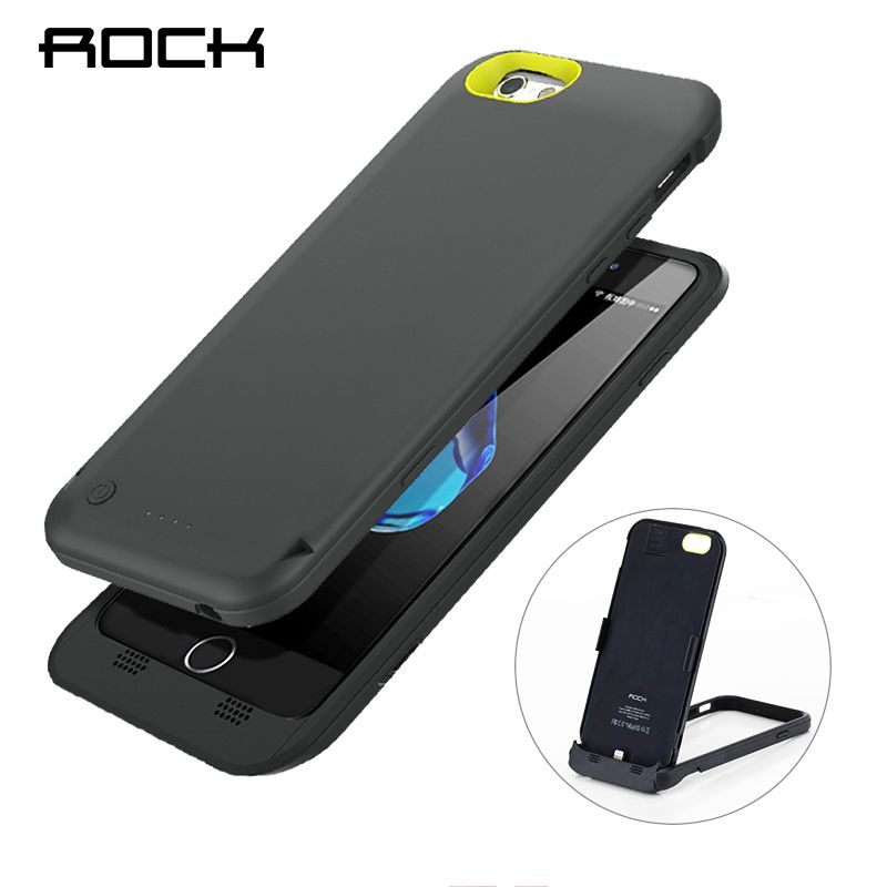 ROCK Power Stand Case For iPhone 6 6S Power Bank MFI Certified Charing Case 3500mAh with Phone Holder Battery Charger