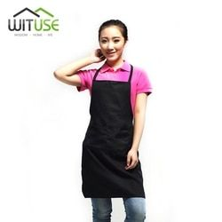 WITUSE 2017 Factory Price  PVC Dustproof Aprons Adjustable Sleeveless Cooking Work Aprons Kitchen Apron Schort Chef Apron