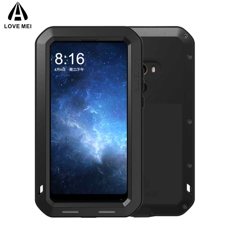 LOVE MEI Aluminum Metal Case For Xiaomi Mi MIX 2 MIX2 Cover Armor Shockproof Life Waterproof Case For Xiaomi Mi Mix 2 Mix2 Coque