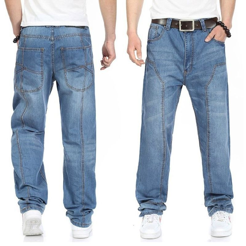 2015 new casual large size jeans men plus fertilizer to increase the individuality fashion Hip-hop jeans Loose