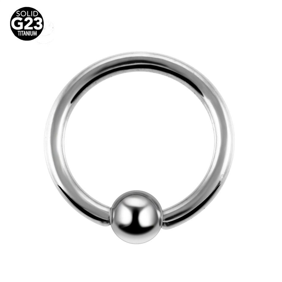 10 Pcs/Lot G23 anneau de perles captives en titane piercing anneaux de nez jauges Septum Clickers bijoux de corps