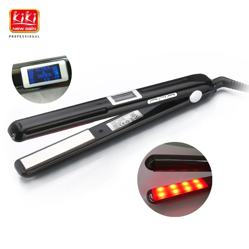 Ultrasonic & Infrared Hair Care Iron Recovers the damaged hair Hair Treament Styler <font><b>Cold</b></font> Iron Hair Care Treatment