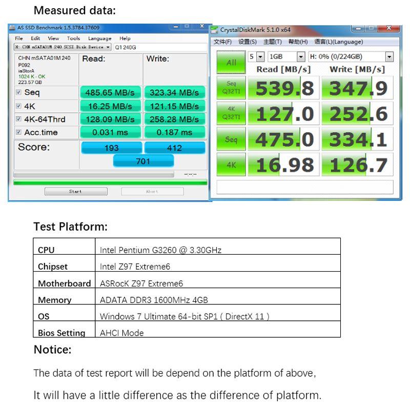 Zheino Q1 mSATA SATAIII 240 GB SSD SATA3 6 GB/S MLC NAND FLASH Interne Solid State Drive Für Tabelle PC Laptop Notebook