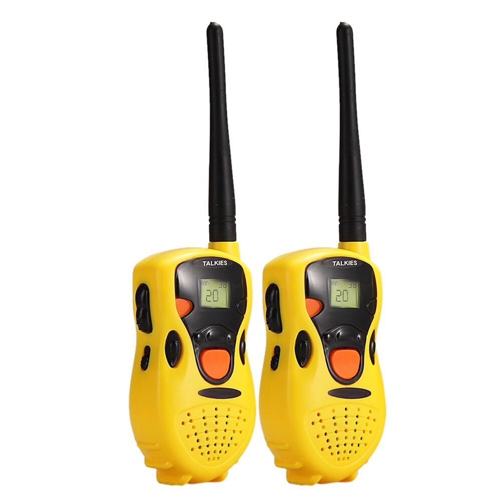 2Pcs Yellow Handheld Walkie Talkies Interphone for Children Fun Pretent Play Game Toy Simulated Interphone Educational Toy #