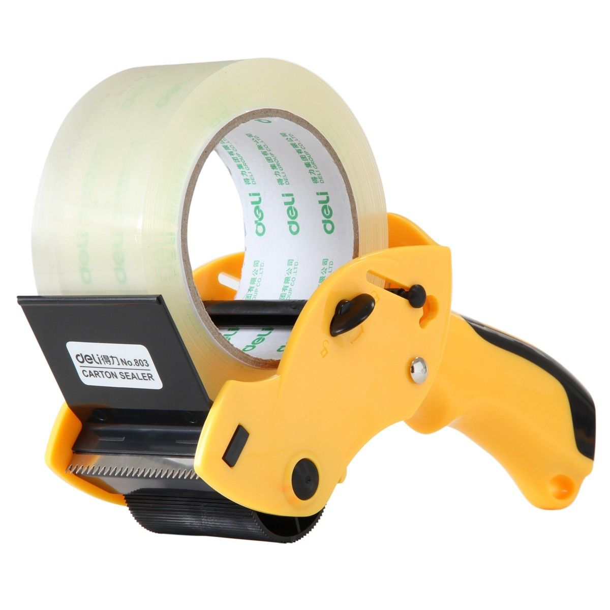QSHOIC  Yellow strength sealing apparatus 60mm  tape cutter(not include tape) Hand-held machine packaging tape machine