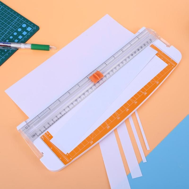 Portable Mini Scrapbooking Paper Trimmer Cutters Guillotine with Pull-out Ruler for Photo Labels Paper Cutting