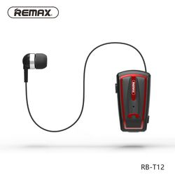 Original Remax T12 Wilress Bluetooth Earphone Collar Clip Headset with microphone Handsfree Earbud for iphone for mobile phone