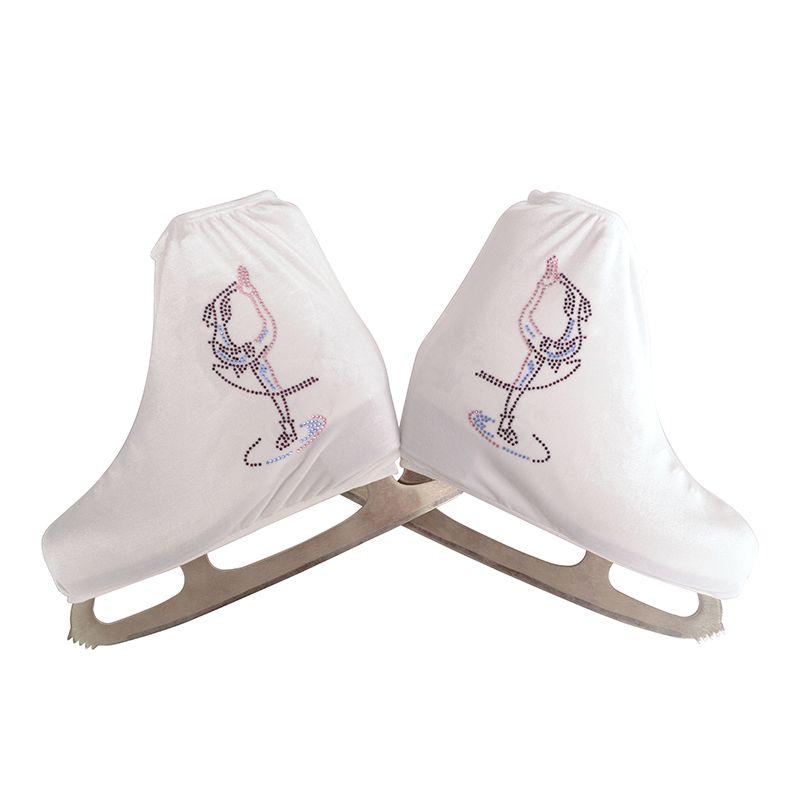 Nasinaya Figure Chaussures Couverture de Velours pour Enfants Adulte De Patinage De Protection Rouleau Skate Glace De Patinage Accessoires brillant Strass 6