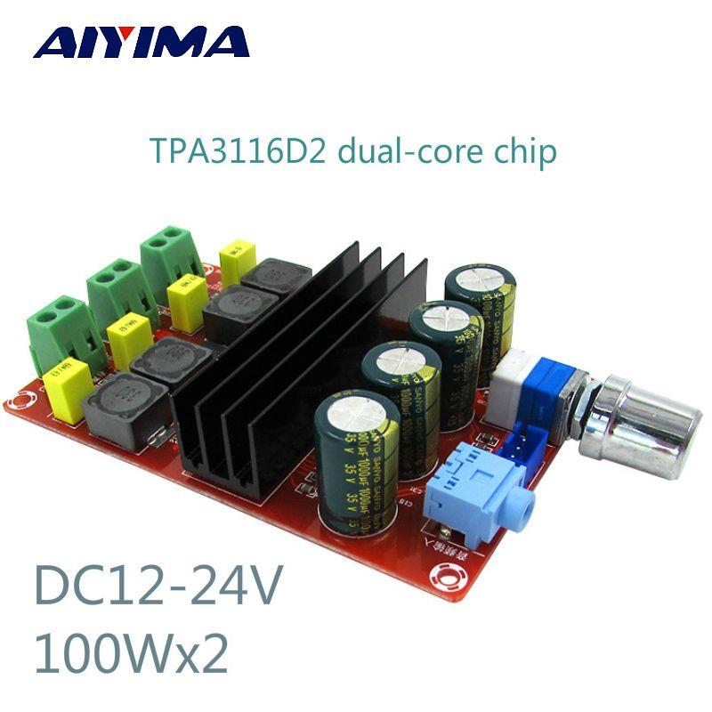 High Power Digital Amplifiers Board TDA3116D2 Two <font><b>Channel</b></font> Audio Amplifier Board 12-24V 100Wx2