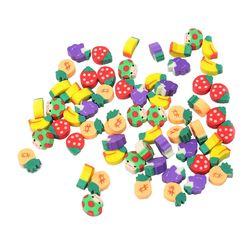 100 piezas lindo fruta cocina forma estudiante Borrador de goma papelería aprendizaje para el regalo creativo del niño