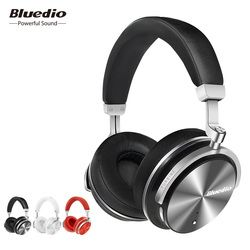 Bluedio T4S Aktif Noise Cancellingwireless Bluetooth Headphone Nirkabel Headset dengan Mikrofon untuk Ponsel