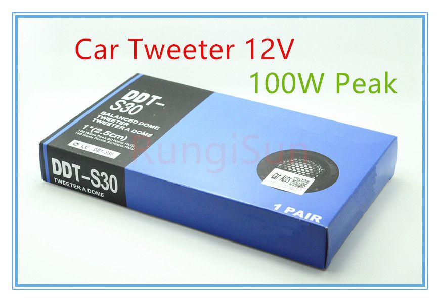 DDT-S30 car 500watts tweeter 12v speaker car dome use