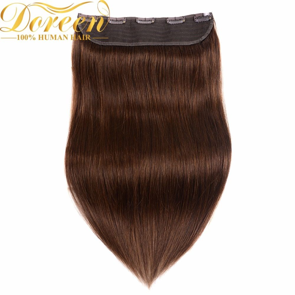 Doreen #1 #1b #2 #4 #8 100g 120g Set Brazilian Machine Made One Piece Set Remy Clips In Human Hair Extensions 16inch-22inch