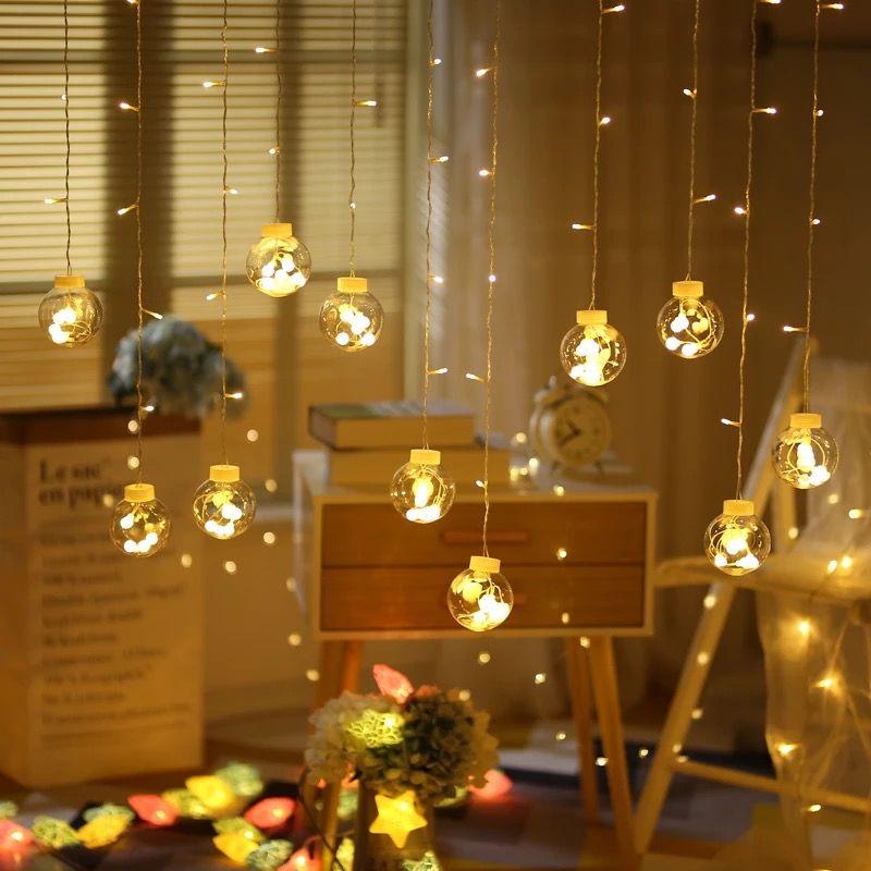 Guirlande de fées LED boule chaîne lumières pour mariage noël fête d'anniversaire Festival décor LED lumières décoration rideaux lumières