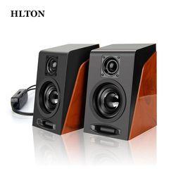 HLTON 2PCS Portable USB Wired Speaker Multimedia Computer Speaker With 3.5mm Audio Loudspeaker For Laptop Desktop Notebook PC