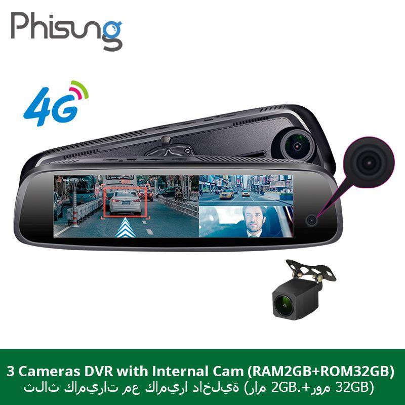 Phisung 3 CHS cameas RAM 2 GB + ROM32GB Auto Spiegel Kamera dvrs Android ADAS GPS Navigation DashCam 1080 P hd auto dvr dash kamera