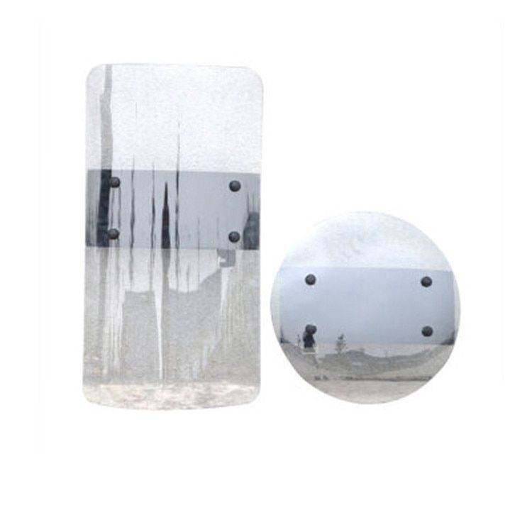 Safurance Transparent PC Hand-held Shield Anti- Riot Shield For Security Protection Self Protect