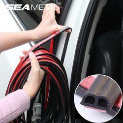 Car Stickers Door Seal Strips Sticker Weatherstrip Rubber Seals Sound Insulation Universal Automobiles Interior Accessories