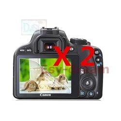 2 Pcs Kualitas Tinggi LCD Layar Film Pelindung untuk Canon 100D Kiss X7 Rebel SL1 DSLR Kamera Lembut