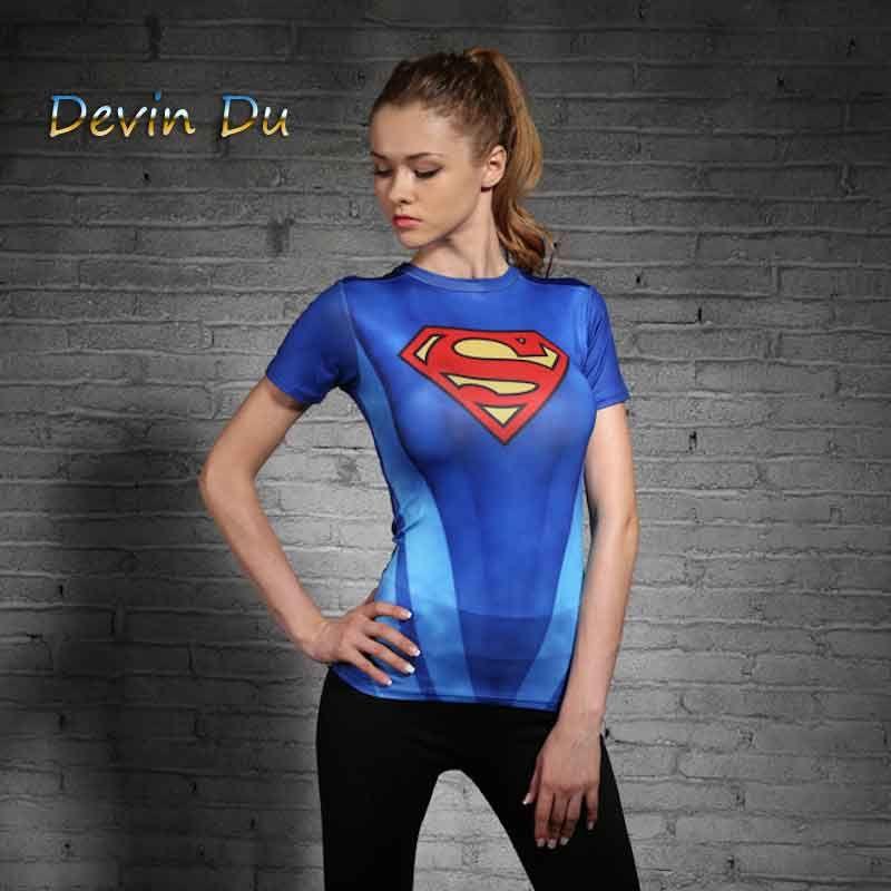 Super Héros Femmes T-shirt Superman Batman Spiderman Hulk Flash T-shirt Iron Man Green Lantern Captain America Femme T-shirt