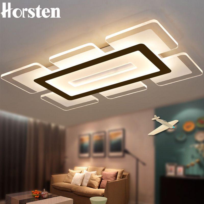 Horsten 110 220V Sky City Ultra-dünne Transparente Led-deckenleuchte Moderne Kreative Acryl Schlafzimmer Wohnzimmer Decke licht