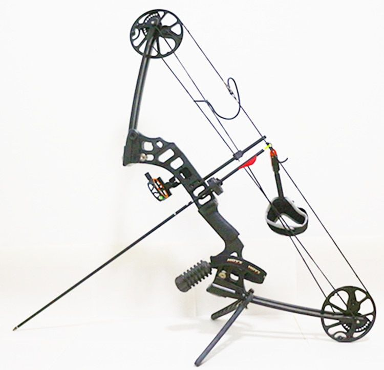 Black Dream Aluminum Alloy Compound Bow With 20-60 lbs Draw Weight