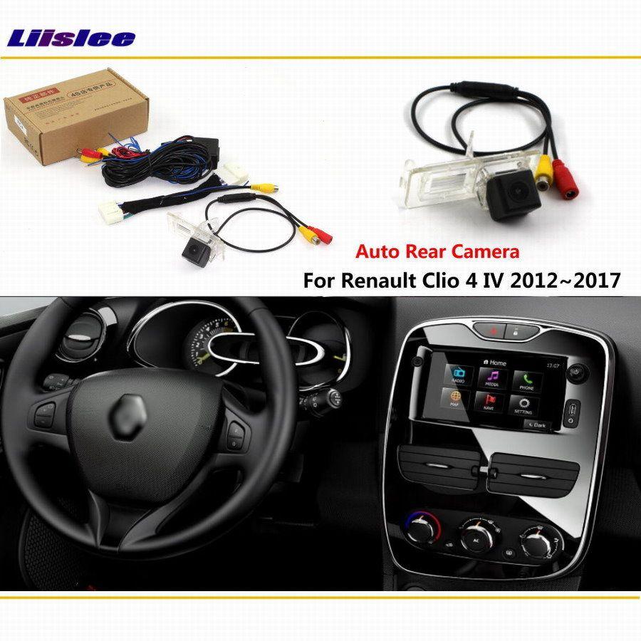 Liislee Hintere Kamera Für Renault Clio 4 IV 2012 ~ 2018 Verbinden Original Fabrik Screen Monitor Lizenz platte licht kamera