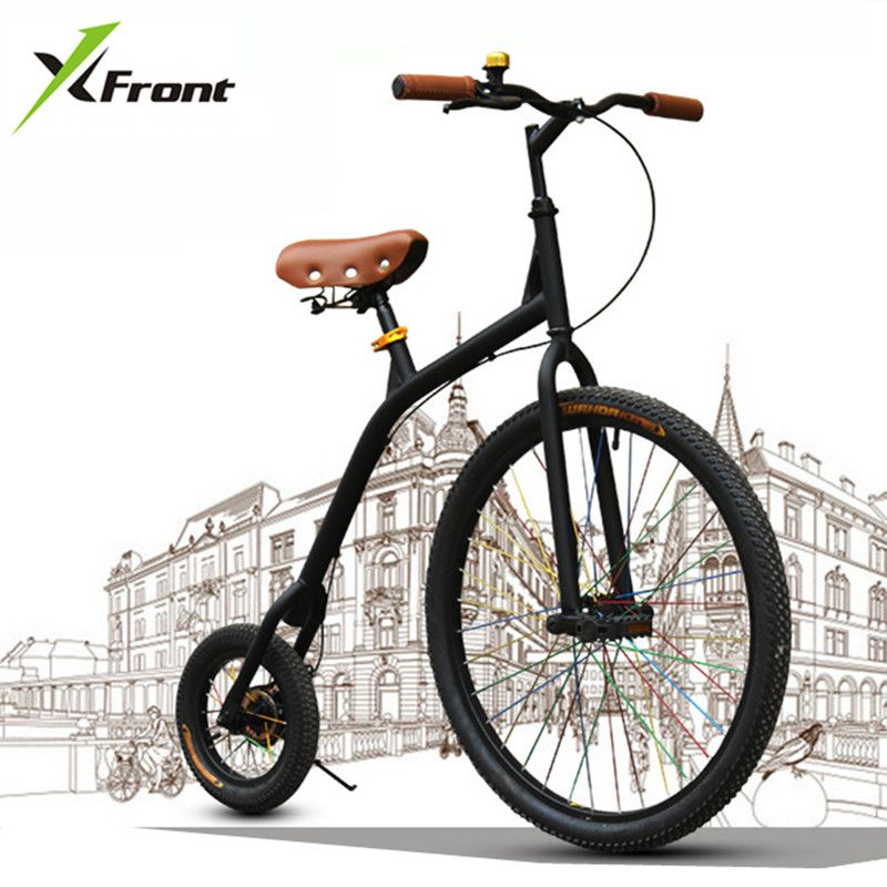 New brand City Retro Bike Bicycle Carbon Steel Large and Small Wheel Cycling Bicicleta Blue/Green/White/Black Bicycle