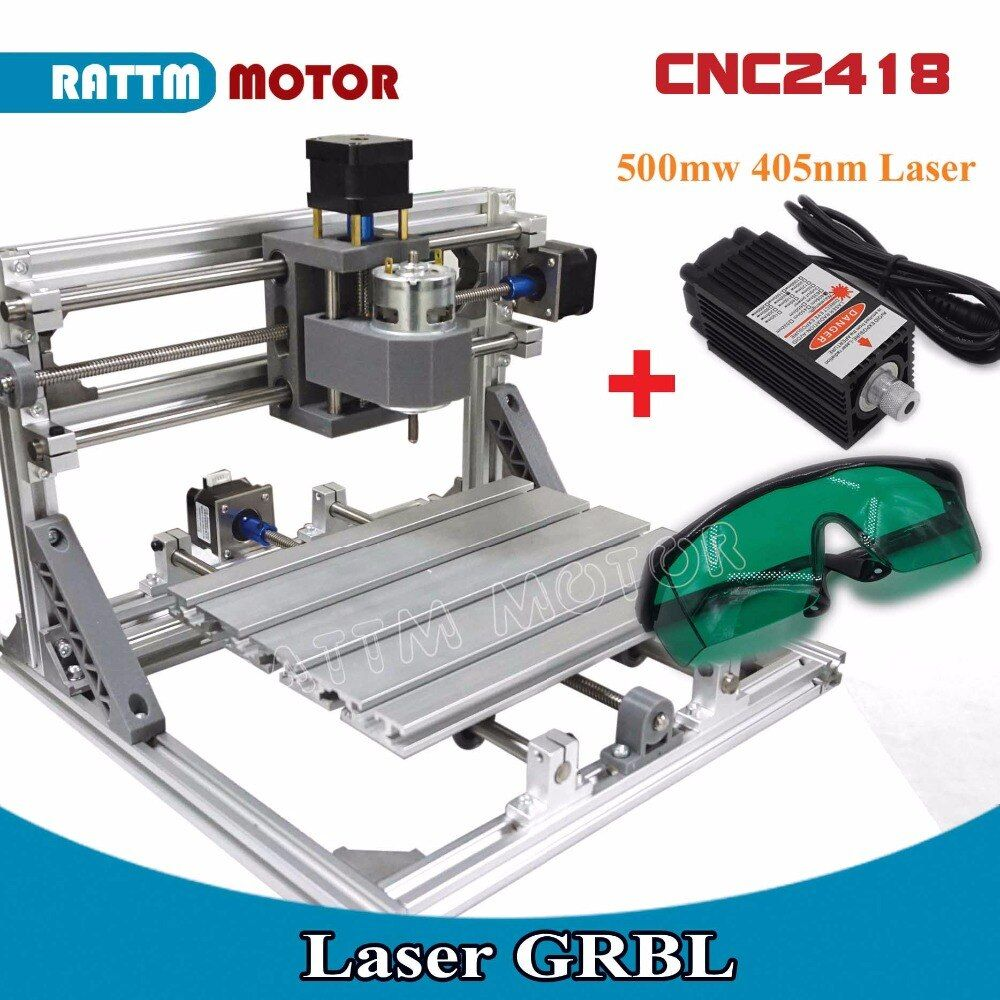 EU Delivery! CNC 2418 GRBL control Diy CNC machine working area 24x18x4.0cm,3 Axis Pcb Pvc Milling machine Carving Engraver,v2.5
