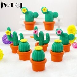 1 x novedad cactus modelado historieta Kawaii papelería escuela fuentes de Oficina suministra los regalos del juguete del niño