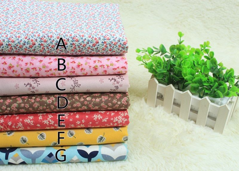 1 meter 100% cotton corduroy thin fabric with floral print, baby's coat children's wear garment cloth CR-581