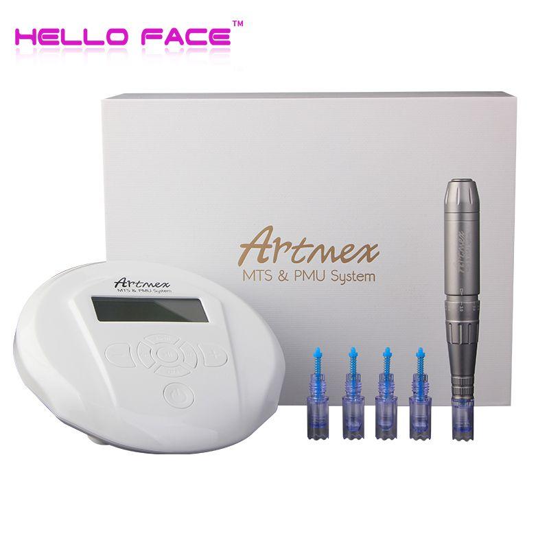 Artmex V6 Permanent Make-Up Augenbrauen Tattoo maschine Mit Digital Control Panel Mikropigmentation Gerät Auge Stirn Lip derma Stift