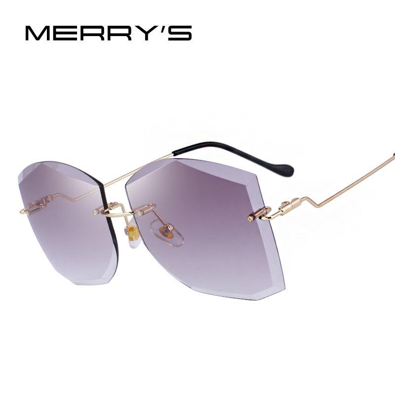 MERRY'S DESIGN Women Classic Rimless Sunglasses Gradient Lens 100% UV Protection S'6280