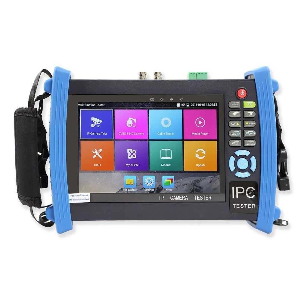 8600 Plus Series 7 Inch IP Camera Tester Monitor CCTV Tester Anolog Test 1080P POE ONVIF 4K H.265 HDMI In&Out RJ45 TDR