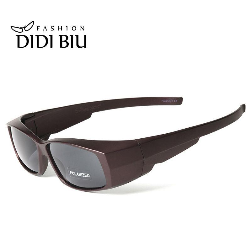 DIDI polarisé myopie couverture lunettes de soleil femmes rétro Rectangle Fit Over lunettes lunettes de soleil hommes marque Clip sur lunettes Gafas U548