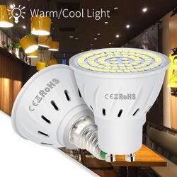 220 V GU10 Led Ampoule E27 Led Lampe E14 Spot Light 4 W 6 W 8 W B22 Maïs Ampoule MR16 48 60 80 led Lampe de Bureau Ampoule Spotlight Salon