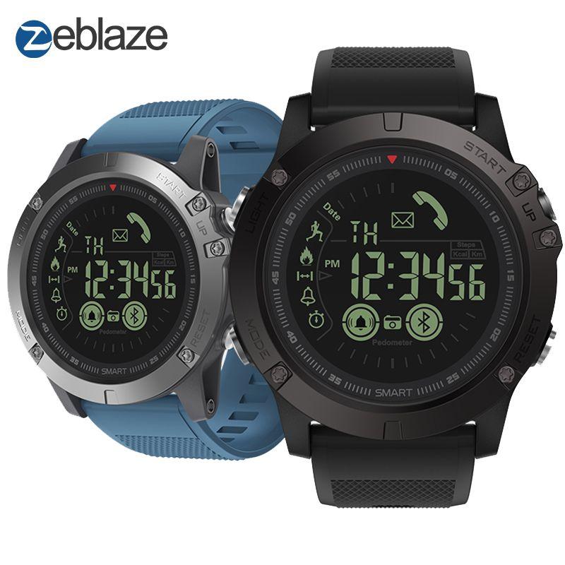 Nouveau Zeblaze VIBE 3 Phare Robuste Smartwatch 33-month Autonomie En Veille 24 h Suivi Par Tous Les Temps Montre Smart Watch Pour IOS et Android